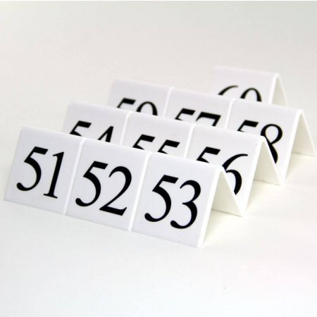 White Table Numbers 51-60