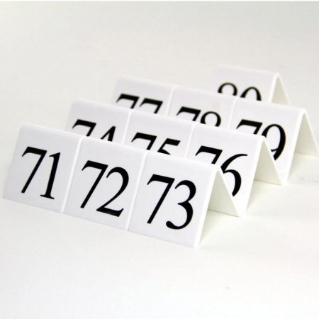 White Table Numbers 71-80