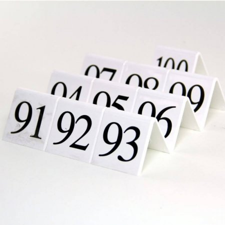 White Table Numbers 91-100
