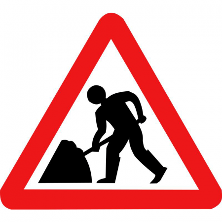 Workmen - Roadworks Road Sign