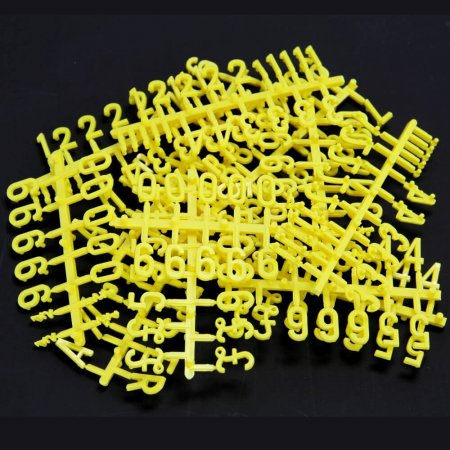 Yellow Peg Board Letters and Numbers