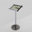 Maitre 'd Menu Information Stand Polished Silver