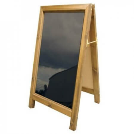 Wooden A-boards with Poster Holder Light