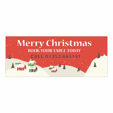 Fully Colour Printed Christmas Banner