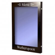 Black Illuminated Menu Case Wetherspoon
