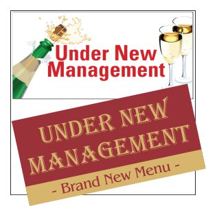 under new management banner designs